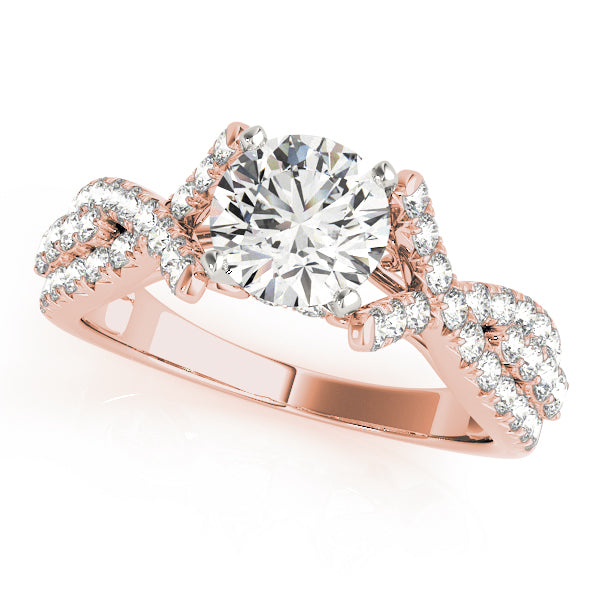 Open Twist Engagement Ring - Michael E. Minden Diamond Jewelers