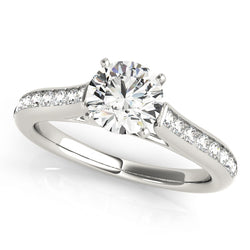 Classic Style Channel Set Engagement Ring - Michael E. Minden Diamond Jewelers