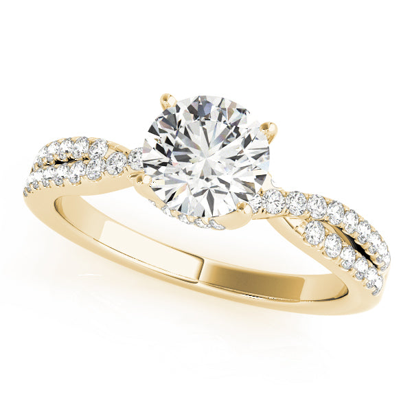 Classic Style Twist Engagement Ring - Michael E. Minden Diamond Jewelers