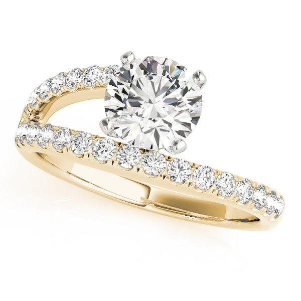 One Side Shank Engagement Ring - Michael E. Minden Diamond Jewelers