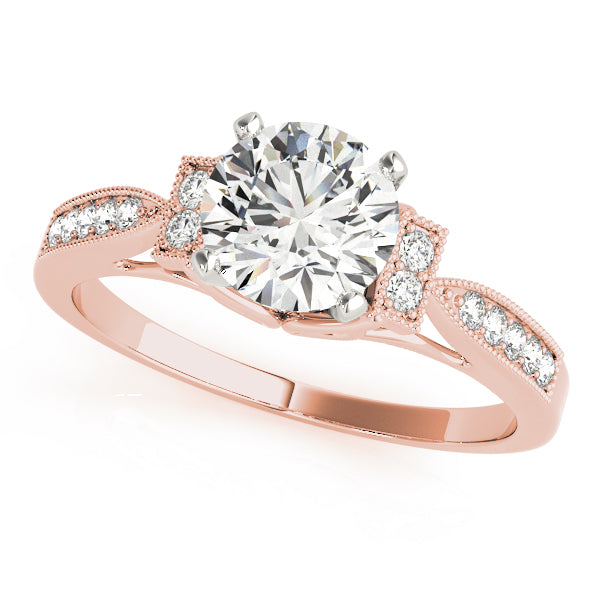 Milgrain Accent Set Engagement Ring - Michael E. Minden Diamond Jewelers