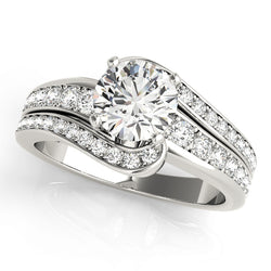Round Double Row Wrap Engagement Ring - Michael E. Minden Diamond Jewelers