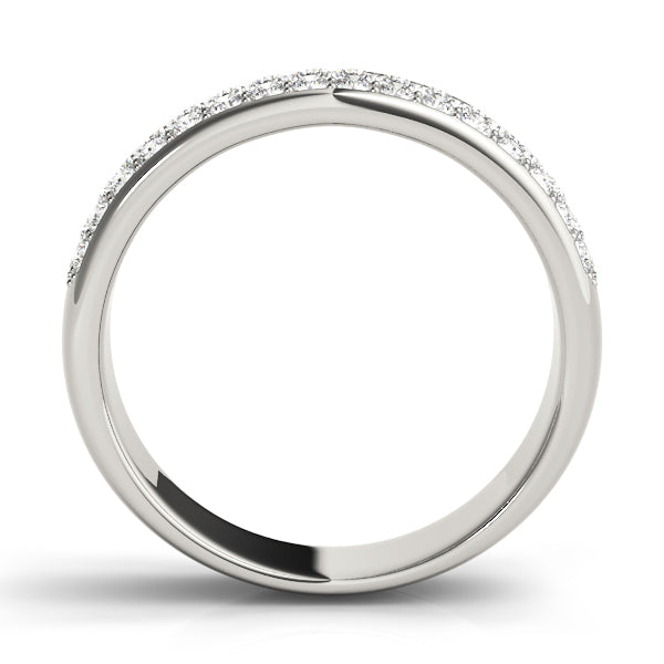 Three Row Pave-Set Wedding Ring - Michael E. Minden Diamond Jewelers