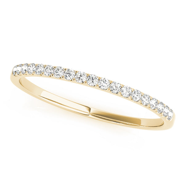Dainty Prong-Set Wedding Ring - Michael E. Minden Diamond Jewelers