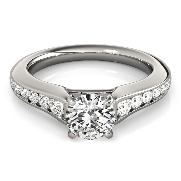 Round Channel Set Engagement Ring - Michael E. Minden Diamond Jewelers