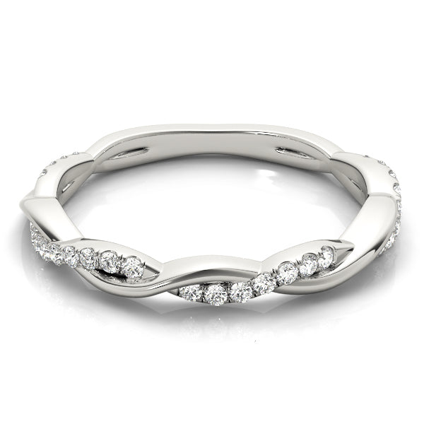 Infinity Prong-Set Wedding Ring - Michael E. Minden Diamond Jewelers