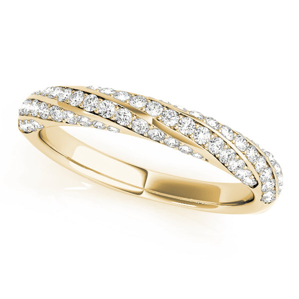 Wrapped Pave-Set Wedding Ring - Michael E. Minden Diamond Jewelers