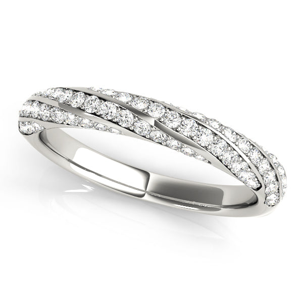 Wrapped Pave-Set Wedding Ring