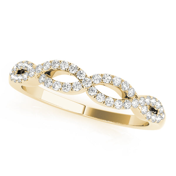 Twisted Prong-Set Wedding Ring - Michael E. Minden Diamond Jewelers