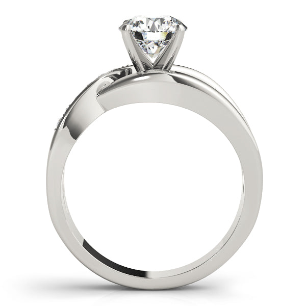 Wrapped Uniquely Set Engagement Ring - Michael E. Minden Diamond Jewelers