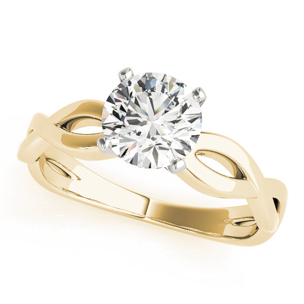 Round Cut Twisted Engagement Ring - Michael E. Minden Diamond Jewelers