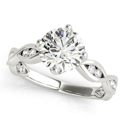 Round Twisted Channel Set Engagement Ring - Michael E. Minden Diamond Jewelers