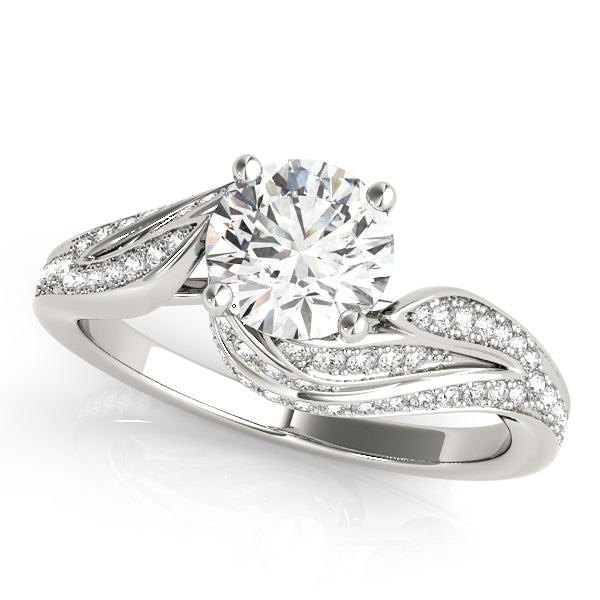 Round Swirl Set Engagement Ring - Michael E. Minden Diamond Jewelers
