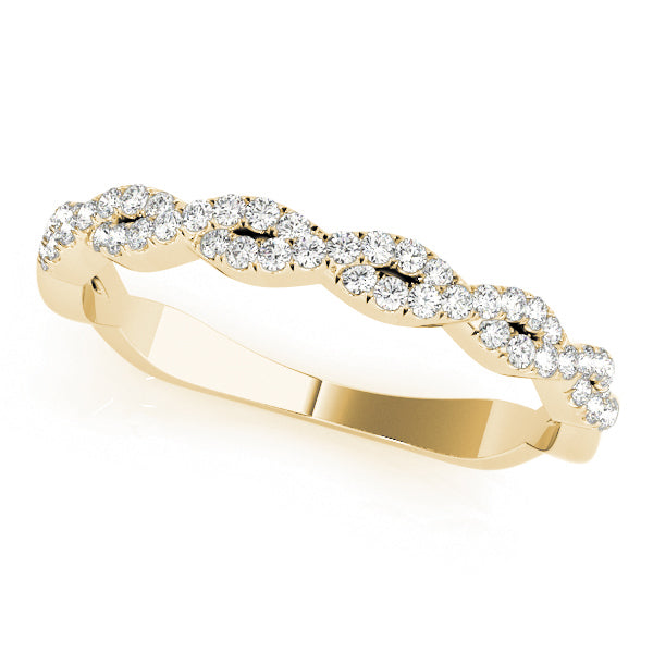Twisted Diamond Wedding Ring - Michael E. Minden Diamond Jewelers