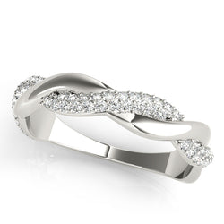 Infinity Pave-Set Wedding Ring - Michael E. Minden Diamond Jewelers