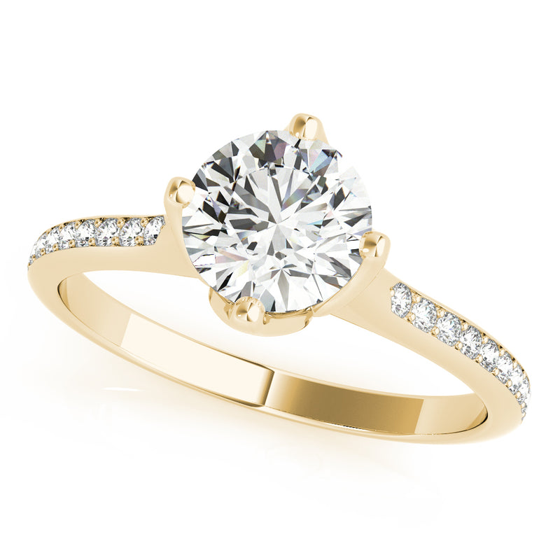 Round Classic-Style Engagement Ring - Michael E. Minden Diamond Jewelers