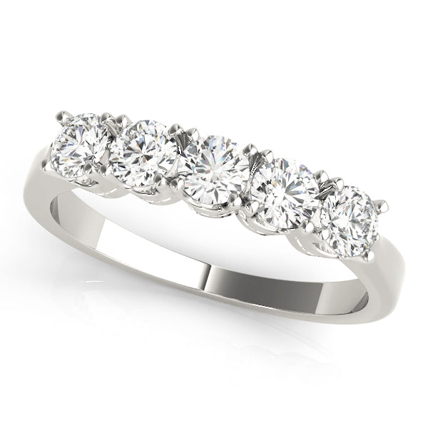 Five Stone Prong-Set Engagement Ring - Michael E. Minden Diamond Jewelers