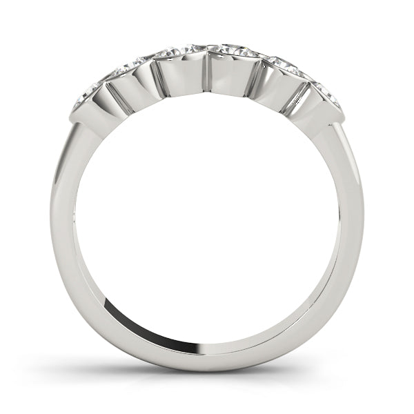 Six Stone Bezel-Set Wedding Ring - Michael E. Minden Diamond Jewelers
