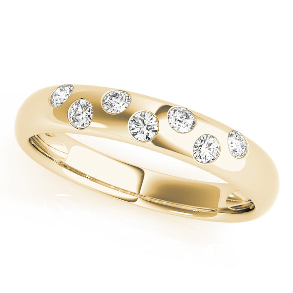 Round Bezel Wedding Ring - Michael E. Minden Diamond Jewelers