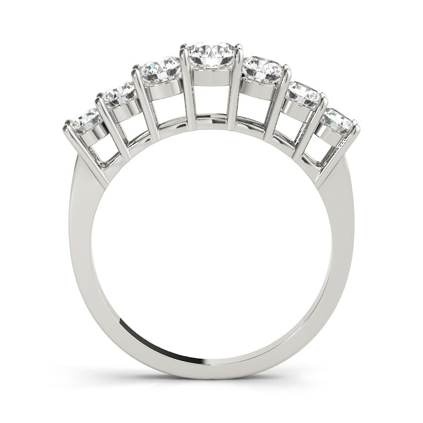 Descending Prong-Set Wedding Ring - Michael E. Minden Diamond Jewelers