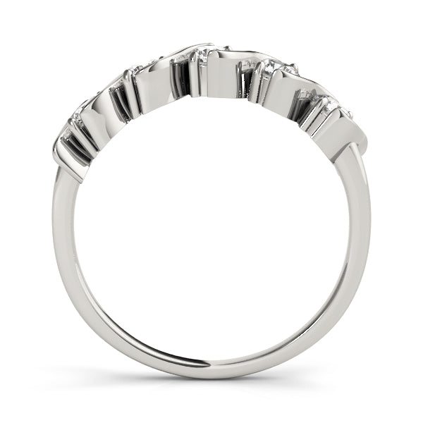 Swirl Wedding Ring - Michael E. Minden Diamond Jewelers