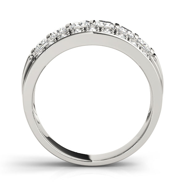 Princess Round Statement Wedding Ring - Michael E. Minden Diamond Jewelers