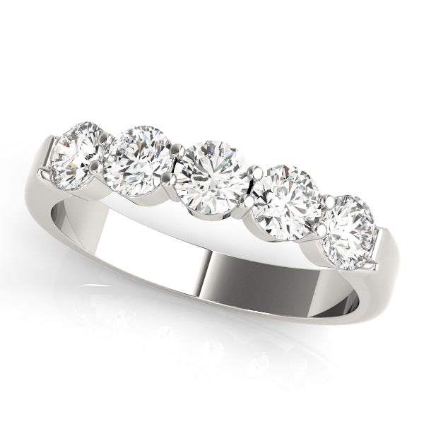 Shared Prong-Set Wedding Ring - Michael E. Minden Diamond Jewelers