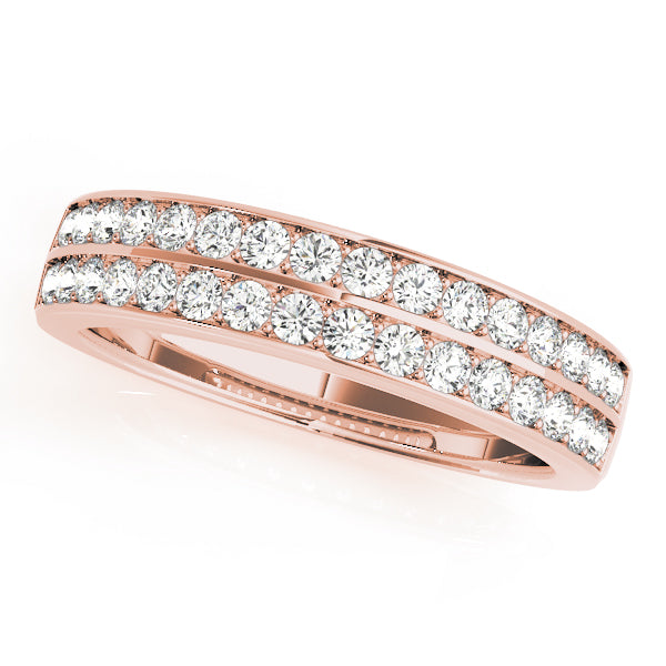 Double Row Pave-Set Wedding Ring - Michael E. Minden Diamond Jewelers