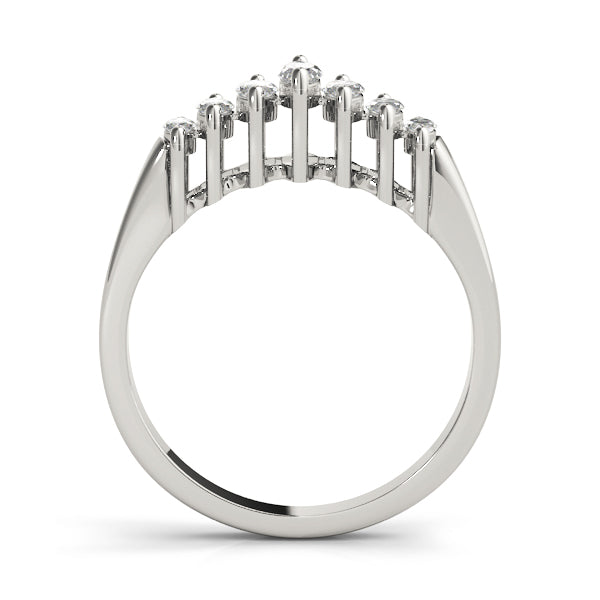 Marquise Descending Wedding Ring - Michael E. Minden Diamond Jewelers