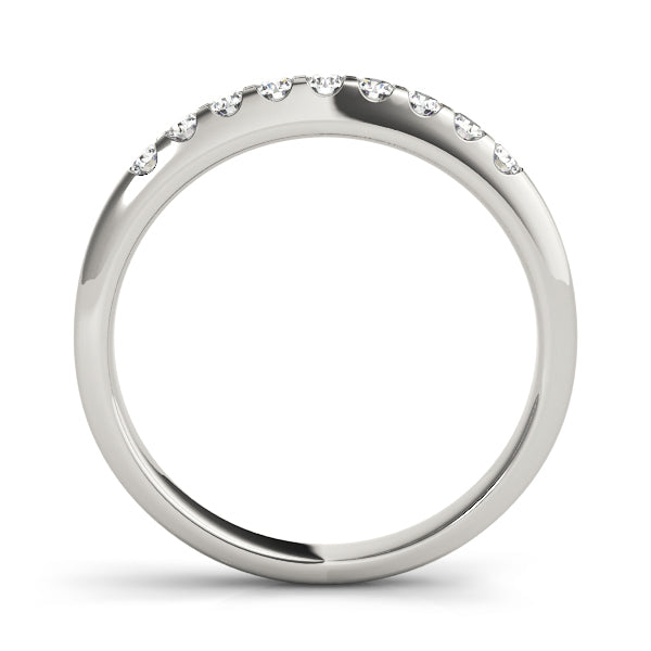 Prong-Set Wedding Ring - Michael E. Minden Diamond Jewelers