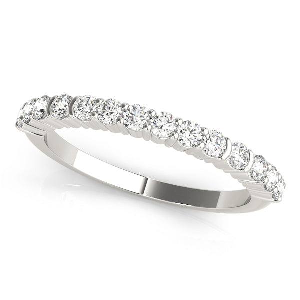 Classic Shared Prong-Set Wedding Ring - Michael E. Minden Diamond Jewelers