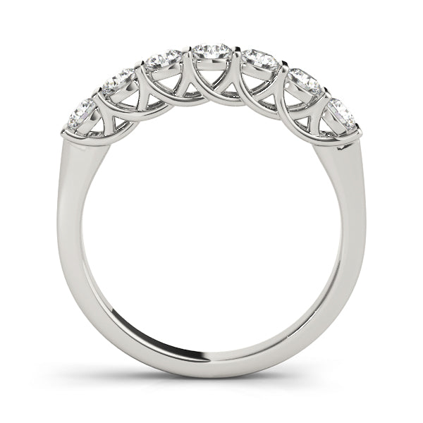 Round Bar-Set Wedding Ring - Michael E. Minden Diamond Jewelers