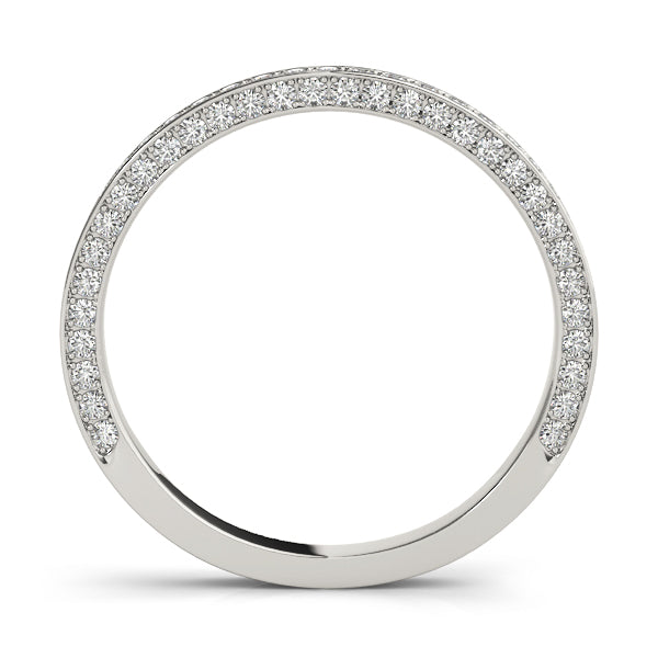 Diamond Side Detail Prong-Set Wedding Ring - Michael E. Minden Diamond Jewelers