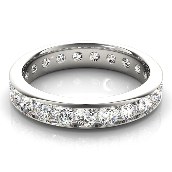 Channel-Set Eternity Wedding Ring - Michael E. Minden Diamond Jewelers