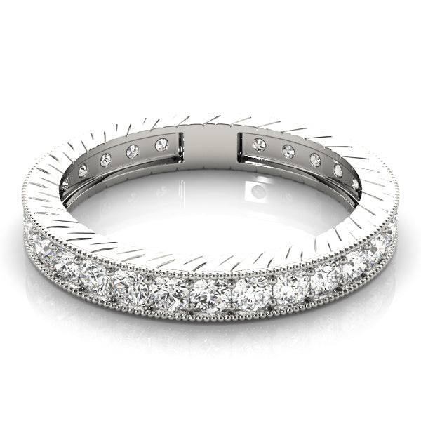 Pave-Set Wedding Ring - Michael E. Minden Diamond Jewelers