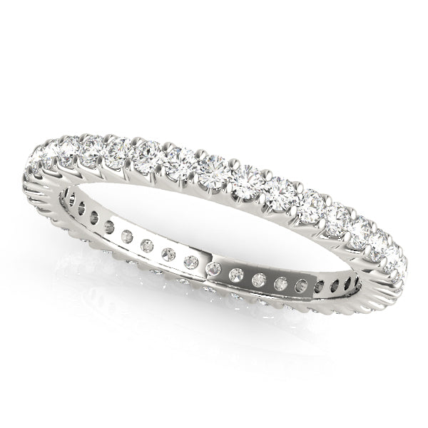 MicroPave Eternity Wedding Ring - Michael E. Minden Diamond Jewelers