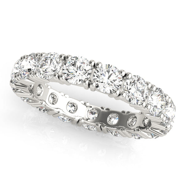 Eternity Prong-Set Wedding Ring - Michael E. Minden Diamond Jewelers