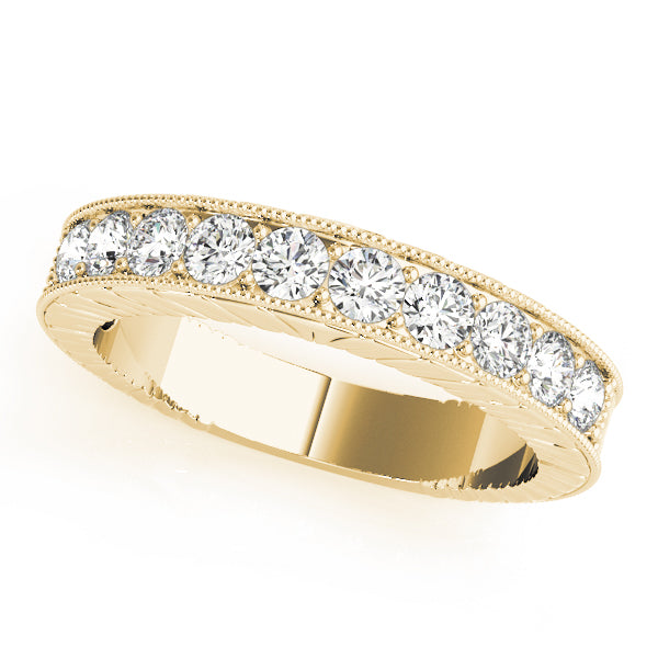 Milgrain Channel-Set Inspired Wedding Ring - Michael E. Minden Diamond Jewelers