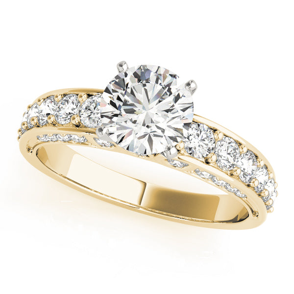 Round Accented Classic Engagement Ring - Michael E. Minden Diamond Jewelers
