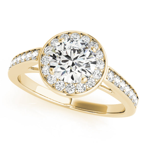 Round Halo Bezel Style Engagement Ring - Michael E. Minden Diamond Jewelers