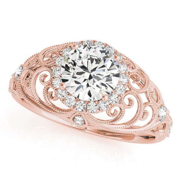 Round Cut Vintage Inspired Engagement Ring - Michael E. Minden Diamond Jewelers