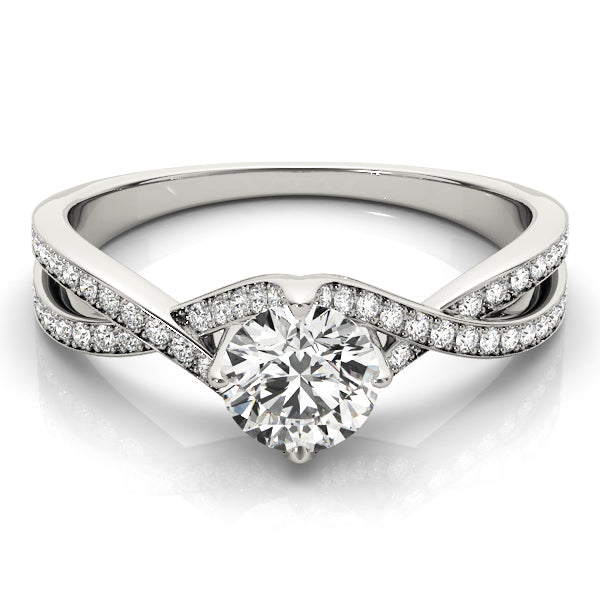 Round Cut Twist Set Engagement Ring - Michael E. Minden Diamond Jewelers