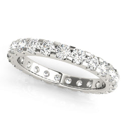 Eternity U Shape Shared Prong-Set Wedding Ring - Michael E. Minden Diamond Jewelers