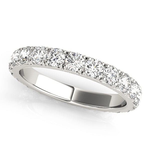 French-Set Eternity Wedding Ring - Michael E. Minden Diamond Jewelers