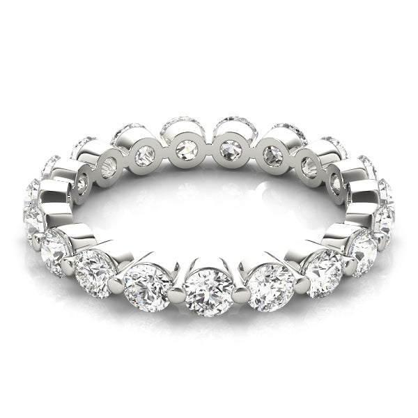 Single Shared Prong-Set Eternity Ring - Michael E. Minden Diamond Jewelers