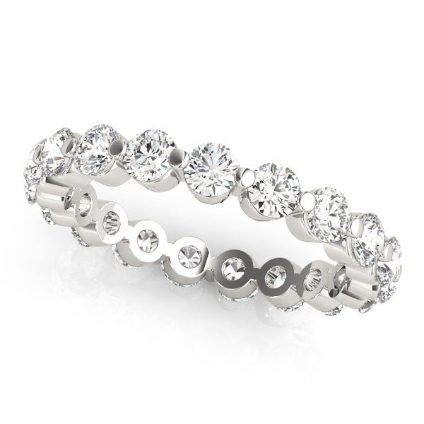 Single Shared Prong Eternity Ring - Michael E. Minden Diamond Jewelers