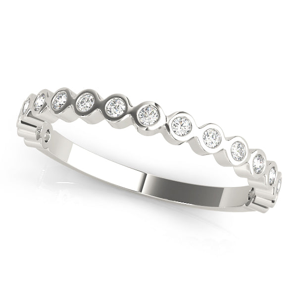 Bezel-Set Wedding Ring - Michael E. Minden Diamond Jewelers