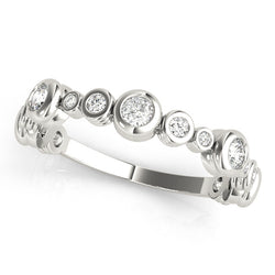 Multi Size Bezel-Set Wedding Ring - Michael E. Minden Diamond Jewelers