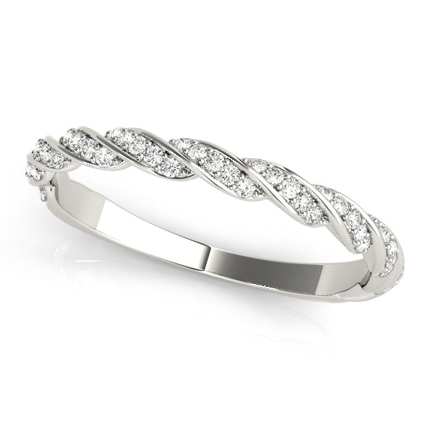 Diamond Braided Wedding Ring - Michael E. Minden Diamond Jewelers