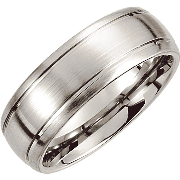 Cobalt Comfort Fit Domed Men's Wedding Ring - Michael E. Minden Diamond Jewelers